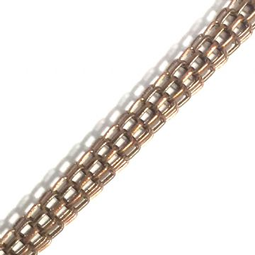 3.2mm mesh reticulated chain - 1.2 metres - Bronze 08